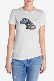 Women's Triblend Crew T-Shirt - Flagrador Retriever