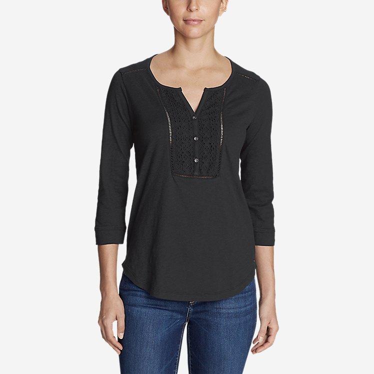 Women's Lola 3/4-Sleeve Henley Shirt large version