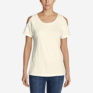 Thumbnail View 1 - Women's Mountain Meadow Cold Shoulder T-Shirt