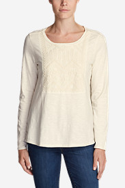 Women's Daybreak Long-Sleeve Embroidered Top