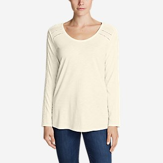 Thumbnail View 1 - Women's Willow Lace Long-Sleeve Scoop T-Shirt