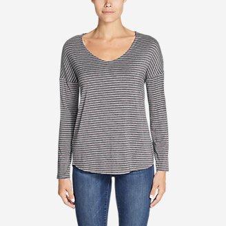 Thumbnail View 1 - Women's Celestial Ultrasoft Long-Sleeve V-Neck T-Shirt