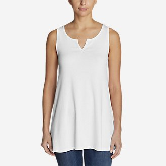 Thumbnail View 1 - Women's Favorite Notched-Neck Tunic Tank Top