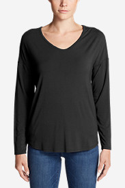 Women's Celestial Ultrasoft Long-Sleeve V-Neck T-Shirt - Solid