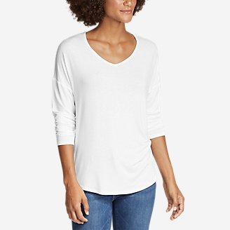 Thumbnail View 1 - Women's Celestial Ultrasoft Long-Sleeve V-Neck T-Shirt - Solid