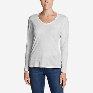 Thumbnail View 1 - Women's Legend Wash Slub Long-Sleeve V-Neck
