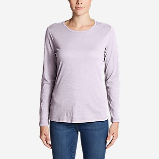 Thumbnail View 1 - Women's Legend Wash Slub Long-Sleeve Crew