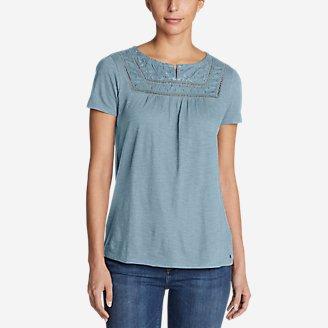 Thumbnail View 1 - Women's Lola Short-Sleeve Split-Neck Shirt