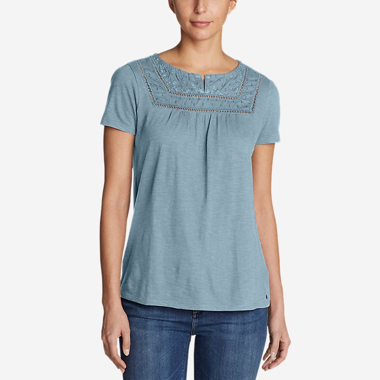 Women's Lola Short-Sleeve Split-Neck Shirt large version