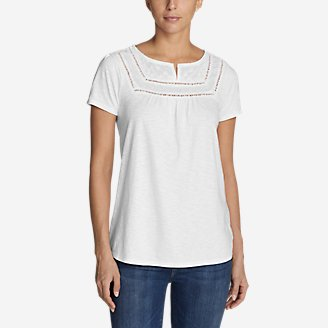 Thumbnail View 1 - Women's Lola Short-Sleeve Split-Neck Shirt