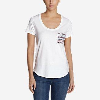 Thumbnail View 1 - Women's Malachite Embroidered-Pocket T-Shirt
