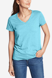 Women's Legend Wash Slub Short-Sleeve V-Neck T-Shirt