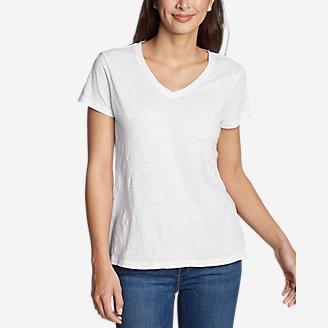 Thumbnail View 1 - Women's Legend Wash Slub Short-Sleeve V-Neck T-Shirt