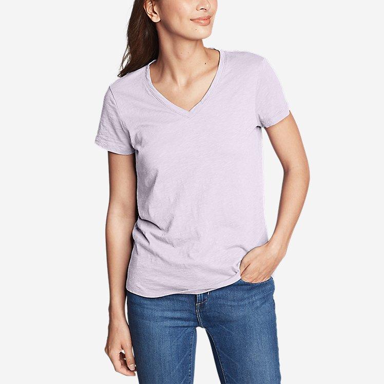 Women's Legend Wash Slub Short-Sleeve V-Neck T-Shirt large version