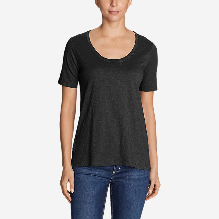 Women's Legend Wash Slub Short-Sleeve Scoop-Neck High-Low Top large version