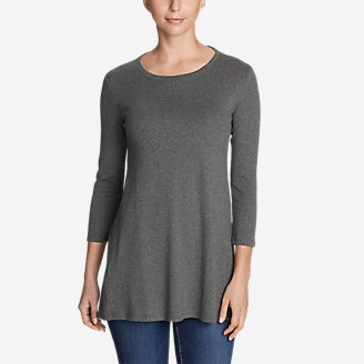 Thumbnail View 1 - Women's Favorite 3/4-Sleeve Tunic T-Shirt