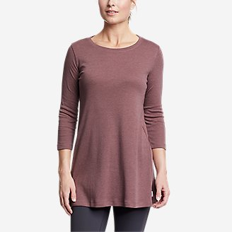 Thumbnail View 1 - Women's Favorite 3/4-Sleeve Tunic T-Shirt