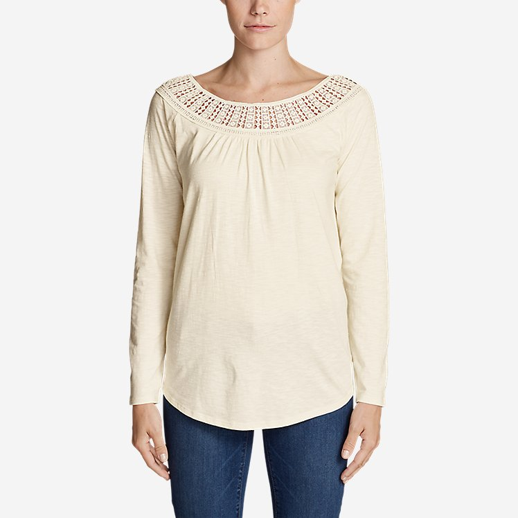 Women's Lola Long-Sleeve Lace-Neck Top large version