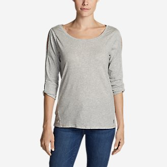 Thumbnail View 1 - Women's Gate Check 3/4-Twist Sleeve Shirt
