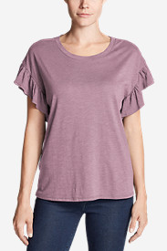 Women's Willow Short-Sleeve Ruffle Top