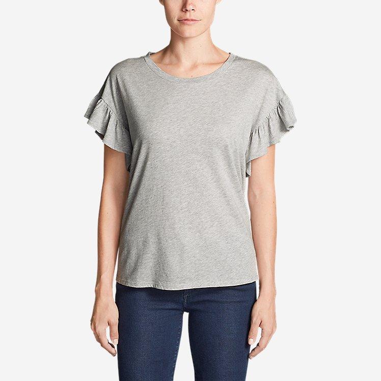 Women's Willow Short-Sleeve Ruffle Top large version