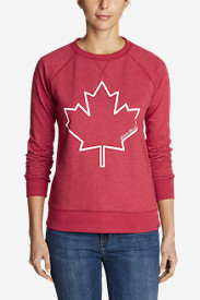 Women's Camp Fleece Graphic Crewneck Pullover