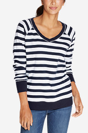 Women's Legend Wash V-Neck Sweatshirt - Stripe
