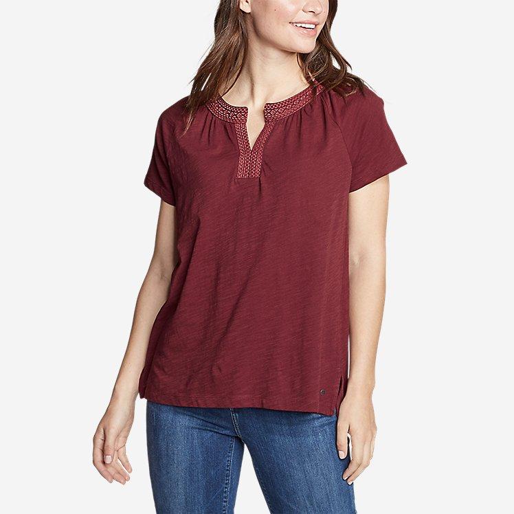 Women's Laurel Canyon Short-Sleeve Split Neck large version