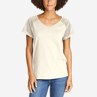 Thumbnail View 1 - Women's Lola Short-Sleeve Eyelet Top