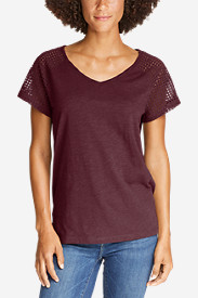 Women's Lola Short-Sleeve Eyelet Top