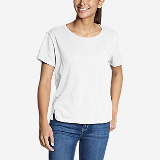 Thumbnail View 1 - Women's Legend Wash Slub Short-Sleeve Easy Crew T-Shirt