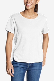 Women's Legend Wash Slub Short-Sleeve Easy Crew T-Shirt