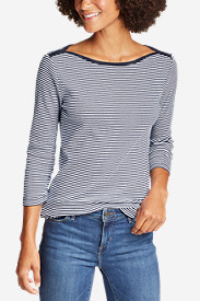 Women's Favorite 3/4-Sleeve Bateau Top - Stripe