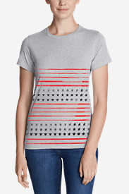 Women's Graphic T-Shirt - Stars & Stripes