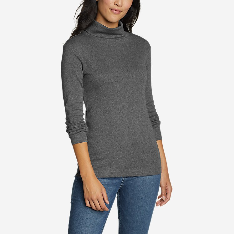 Women's Favorite Long-Sleeve Turtleneck - Solid large version