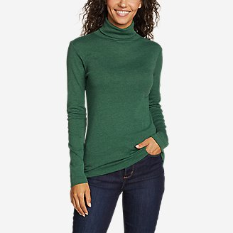 Thumbnail View 1 - Women's Favorite Long-Sleeve Turtleneck - Solid