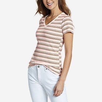 Thumbnail View 1 - Women's Favorite Short-Sleeve V-Neck T-Shirt - Stripe