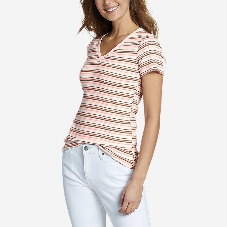 Women's Favorite Short-Sleeve V-Neck T-Shirt - Stripe large version