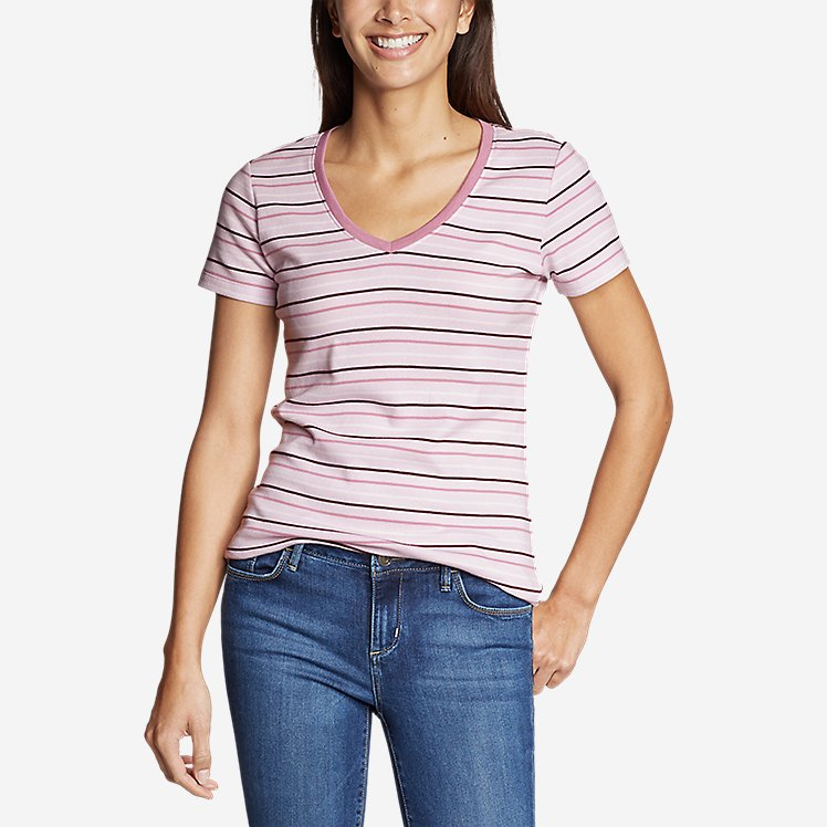 Women's Favorite Short-Sleeve V-Neck T-Shirt - Stripe large version