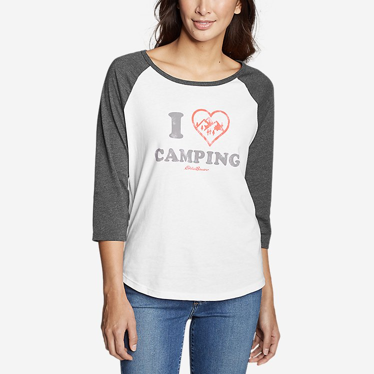 Women's Graphic T-Shirt - I Heart Camping large version
