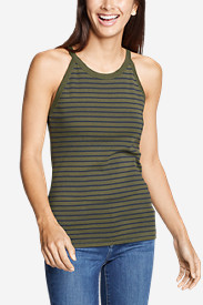 Women's Favorite Sleeveless Halter Top - Stripe