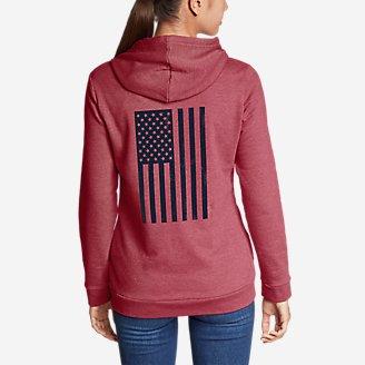 Thumbnail View 1 - Women's Camp Fleece Full-Zip Hoodie - Flag