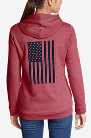 Women's Camp Fleece Full-Zip Hoodie - Flag