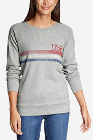 Women's Legend Wash Crew Sweatshirt - USA Stripe