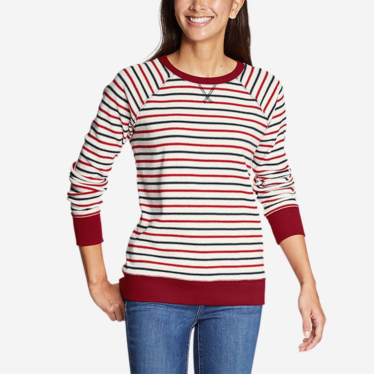 Women's Legend Wash Crew Sweatshirt Americana Stripe