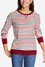 Women's Legend Wash Crew Sweatshirt - Americana Stripe