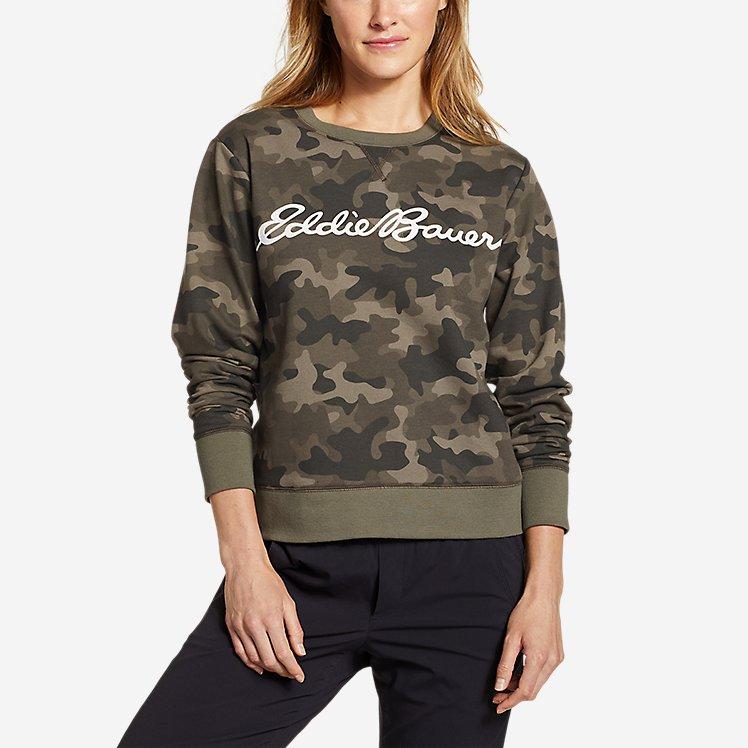 Women's Camp Fleece Logo Crewneck Sweatshirt - Easy large version