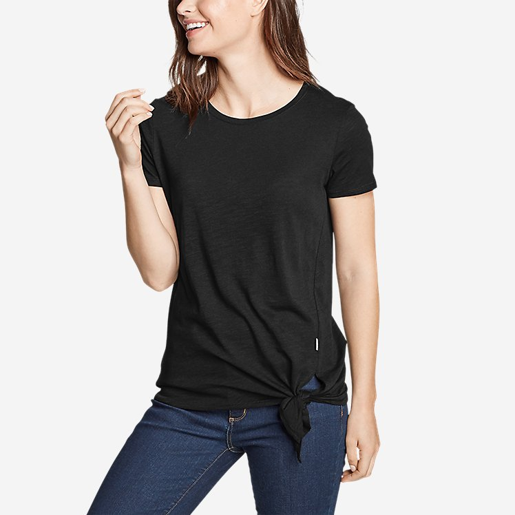 Women's Gate Check Short-Sleeve Side-Tie T-Shirt large version
