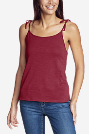 Women's Gate Check Tie-Strap Tank Top - Solid