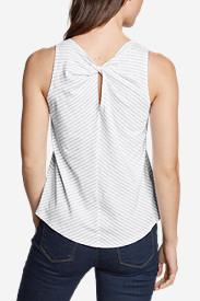 Women's Gate Check Twist-Back Tank Top - Stripe